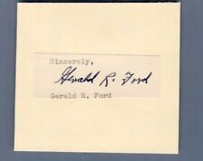 PRESIDENT GERALD R. FORD SIGNATURE AUTOGRAPH cut signature