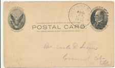 1907 Jack & Pt Tampa Florida RPO Cancel on UX18 Postal Card to  Crescent City