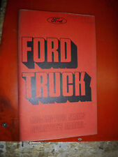 1975 FORD TRUCK 500-750/6000-7000 SERIES FACTORY OWNERS MANUAL GUIDE 2ND PRINT