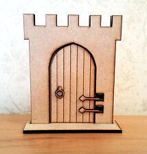 3D Opening Fairy Castle Door Elf Wooden Laser Cut Fairies Pixies Handmade