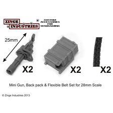 Zinge Industries grandes armas SAT fuego Minigun Back Pack & Flex Munición Cinturón x2 S-GAR02