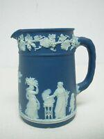 "ANTIQUE WEDGWOOD ENGLAND DARK BLUE JASPERWARE SMALL 3 3/4"" SYRUP PITCHER"