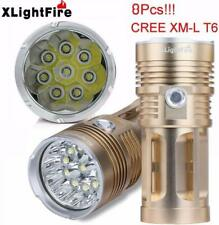 LightFire 19000LM 8 x CREE XM-L T6 LED Hunting Flashlight 4 x 18650 Lamp Torch