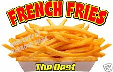 "French Fries Decal 14"" The Best Concession Food Truck Restaurant Vinyl Stickers"