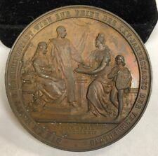 1879 Austria Franz Josef I Elizabeth 25th Wedding Anniversary 50mm Bronze Medal
