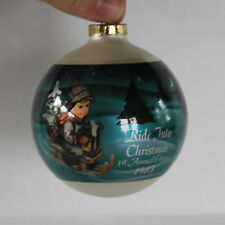 Vintage Hummel Ride Into Christmas First Annual Edition Glass Christmas Ornament