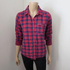 Hollister Womens Plaid Shirt Size Medium Top Shirt Red & Blue Blouse