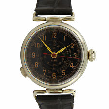 Rare Vintage Elka Military Chilean Air Force Watch w/ stop watch future Serviced