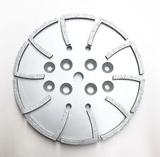 """10"""" Pro Concrete Grinding Head Disc Plate for Edco,MK&General Grinders-20Segs"""