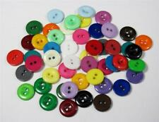 BB BUTTONS - 12mm round acrylic colour mixed pack of 50 BULK sewing craft