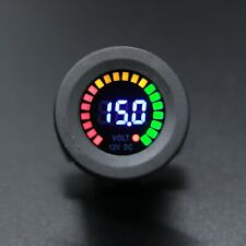 Waterproof 12V Led Car Van Boat Marine Voltmeter Voltage Meter Battery Gauge Usa