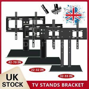 "Universal TV Stand Bracket Desk Table Top LED Plasma VESA Mount For 22-70"" TV"
