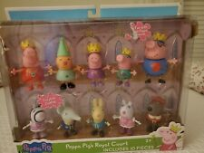 Peppa Pig and Friends Royal Court Figures 10 Pack NIB