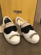 Fendi Karl loves Fendi women Leather Slip on Sneakers - Made in Italy Size 35