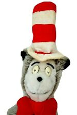 "Cat In The Hat Stuffed Animal Dr Seuss Eden Toys Plush 1979 Vintage 24"" Grey"