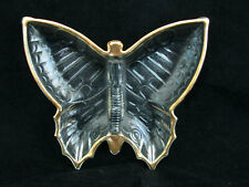 Jeanette Glass Clear Vintage Butterfly Shaped Divided Candy Dish