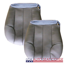 01-03 Jeep Grand Cherokee Laredo SE Sport D,P. Bottom Leather Seat cover GRAY