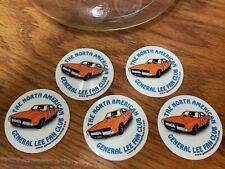 Dukes of Hazzard Fan Club Stickers General Lee Lot Of 5.