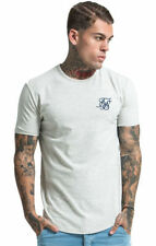 SikSilk Patternless Fitted T-Shirts for Men