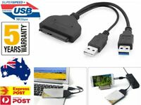 """SATA to USB 3.0 Adapter Cable for 2.5"""" Hard Drive HDD Laptop Data Recovery PC AU"""