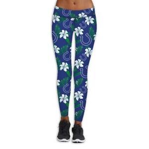 Indianapolis Colts Women High Wasit Leggings Strectchy Yoga Soft Pants Butt Lift