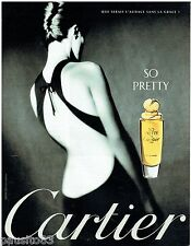 PUBLICITE ADVERTISING 115  1997  CARTIER  parfum  SO PRETTY