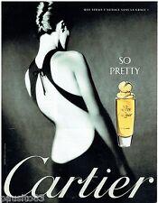 PUBLICITE ADVERTISING 115  1997  CARTIER  parfum  SO PRETTY