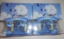 Bath and Body Works Wallflowers Plug-In Refills Lot of 4 FRESH COTTON