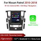 "9.7"" Tesla Style Android 11 Apple Carplay Car Stereo GPS For Nissan Patrol 10-18"