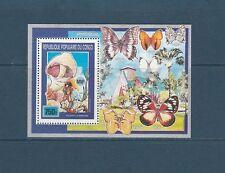 Congo république bloc  scoutisme champignons papillons  1990  num: BF 46 **