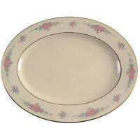 "Lenox Petite Rose 13"" 99 Shape Oval Serving Platter 1215987"