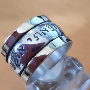 Bluenoemi Spinner Ring for Man / Woman Meditation Ring, Blessing Ring, Love Ring