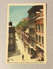 PETITE RUE (LITTLE) CHAMPLAIN, QUEBEC PQ/QC vintage white-border postcard