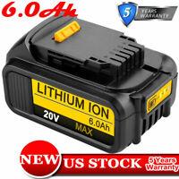 DCB205 For DEWALT 20V DCB200 MAX Lithium-Ion Premium Battery Pack 6.0Ah DCB206-2