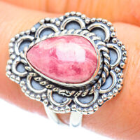 Rhodochrosite 925 Sterling Silver Ring Size 8.5 Ana Co Jewelry R55986F
