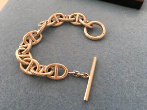 bracelet argent massif chaine d ancre