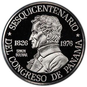 PANAMA  1976  150 BALBOAS PLATINUM COIN, PROOF, CERTIFIED PCGS PR69-DCAM