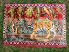 Vintage Antique African Lion TIGER Hanging Wall Tapestry 6 x 4 feet