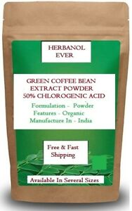 100% Pure Best Quality Green Coffee Bean Extract  Powder (50% Chlorogenic Acid)