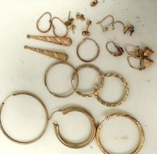 Job Lot Vintage Modern Gold Jewellery Pendant  Earnings Bundle #150