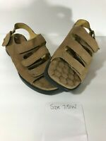 Cobbie Cuddlers Womens Sandal Sz 7.5 Ultra Massage Adjustable Strap Leather