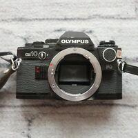 Olympus OM-10 35mm SLR Film Camera Black Body Only Vintage
