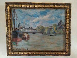 Tableau ancien Paris impressionnisme Renouard
