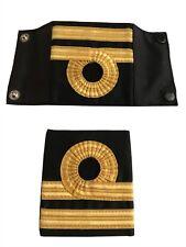 Pair Of Royal Navy Lieutenant Rank Slides -shirt / jumper Epaulette