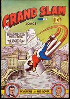 🍁 Grand Slam Comics #52 (Anglo American Pub Canada, April, 1946) Canadian White