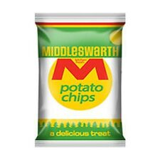 Case of Middleswarth / Middlesworth Potato Chips Regular Variety 36 Bags FRESH