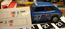 Stickers Kit Restoration Fiat 127 Rally 1/24 Bburago Burago Martoys