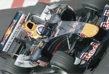David Coulthard mano firmato RED BULL RACING FOTO 12X8 10.