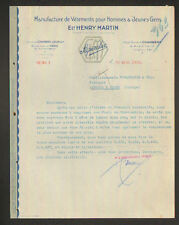"""CHAMBERY & RUMILLY (73) USINE de VETEMENTS pour HOMMES """"Ets. HENRY MARTIN"""" 1932"""