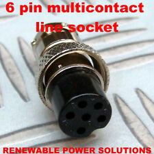 6 pines zócalo de línea recta Multi Contacto Hembra Cable con conector de micrófono de agarre jamón Etc